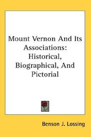 Cover of: Mount Vernon And Its Associations