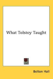Cover of: What Tolstoy Taught