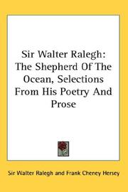 Cover of: Sir Walter Ralegh | Sir Walter Ralegh