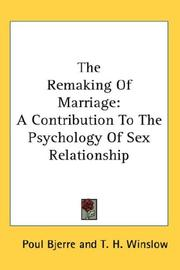 Cover of: The Remaking Of Marriage