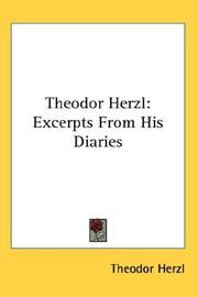 Cover of: Theodor Herzl: Excerpts From His Diaries