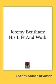 Cover of: Jeremy Bentham