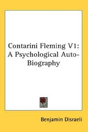 Cover of: Contarini Fleming V1: A Psychological Auto-Biography
