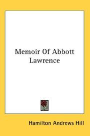 Cover of: Memoir of Abbott Lawrence