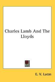 Cover of: Charles Lamb And The Lloyds