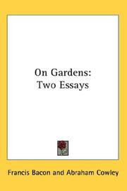 Cover of: On Gardens: Two Essays