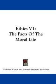 Cover of: Ethics V1