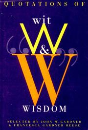 Cover of: Quotations of Wit and Wisdom |