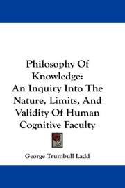 Cover of: Philosophy Of Knowledge