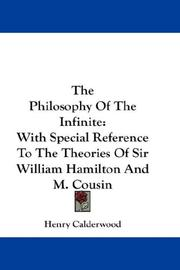 Cover of: The Philosophy Of The Infinite