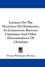 Cover of: Lectures On The Doctrines Of Christianity
