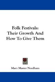 Cover of: Folk Festivals | Mary Master Needham
