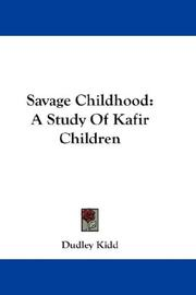Cover of: Savage childhood