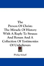 Cover of: The Person Of Christ