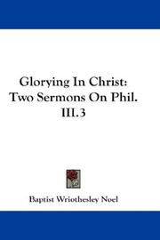 Cover of: Glorying In Christ