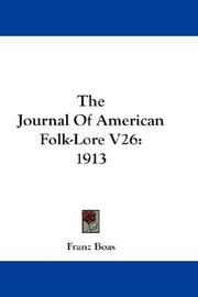 Cover of: The Journal Of American Folk-Lore V26