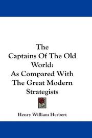Cover of: The Captains Of The Old World