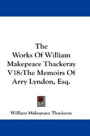 Cover of: The Works Of William Makepeace Thackeray V18