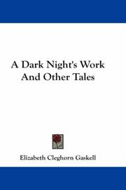 Cover of: A Dark Night's Work And Other Tales