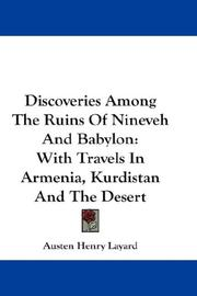 Cover of: Discoveries Among The Ruins Of Nineveh And Babylon