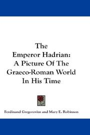 Cover of: The Emperor Hadrian