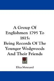 Cover of: A Group Of Englishmen 1795 To 1815 | Eliza Meteyard
