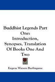 Cover of: Buddhist Legends Part One