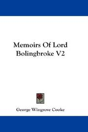 Cover of: Memoirs Of Lord Bolingbroke V2
