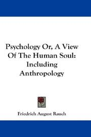 Cover of: Psychology Or, A View Of The Human Soul