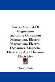 Cover of: Davis's Manual Of Magnetism