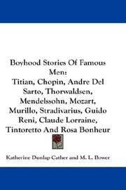 Cover of: Boyhood Stories Of Famous Men | Katherine Dunlap Cather