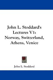 Cover of: John L. Stoddard's Lectures V1