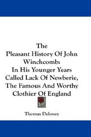 Cover of: The Pleasant History Of John Winchcomb