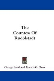 "Cover of: The Countess of Rudolstadt: a sequel to ""Consuelo."""