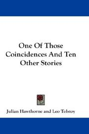 Cover of: One Of Those Coincidences And Ten Other Stories
