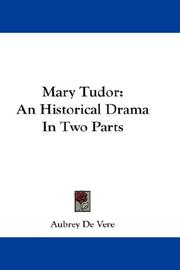 Cover of: Mary Tudor | Aubrey De Vere