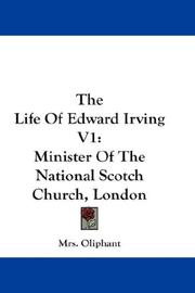 Cover of: The Life Of Edward Irving V1