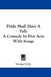 Cover of: Pride Shall Have A Fall