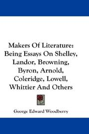 Cover of: Makers Of Literature | George Edward Woodberry