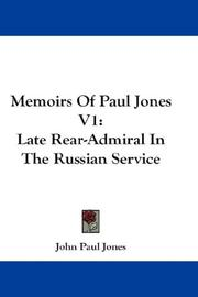 Cover of: Memoirs Of Paul Jones V1