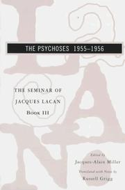 Cover of: The Psychoses 1955-1956 (Seminar of Jacques Lacan)