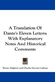 Cover of: A Translation Of Dante's Eleven Letters