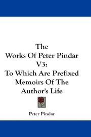 Cover of: The Works Of Peter Pindar V3