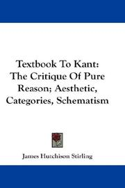 Cover of: Textbook To Kant
