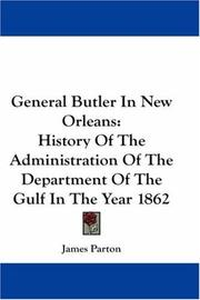 Cover of: General Butler In New Orleans | James Parton