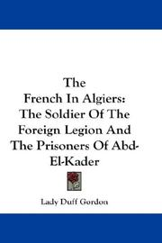 Cover of: The French In Algiers