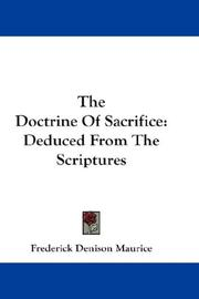 Cover of: The Doctrine Of Sacrifice
