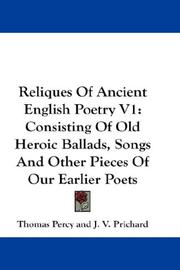 Cover of: Reliques Of Ancient English Poetry V1