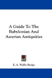 Cover of: A Guide To The Babylonian And Assyrian Antiquities | Ernest Alfred Wallis Budge
