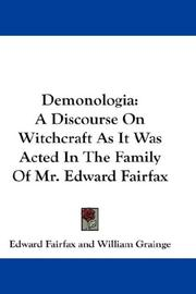 Cover of: Demonologia | Edward Fairfax